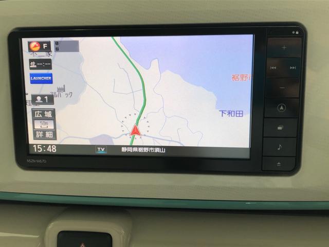 ムーヴキャンバスGメイクアップ SAII ナビ ETC 保証付き純正フルセグナビ LEDヘッドランプ&フォグランプ 衝突被害軽減ブレーキ機能 車線逸脱警報機能 両側電動スライドドア オートライト プッシュスタート(静岡県)の中古車
