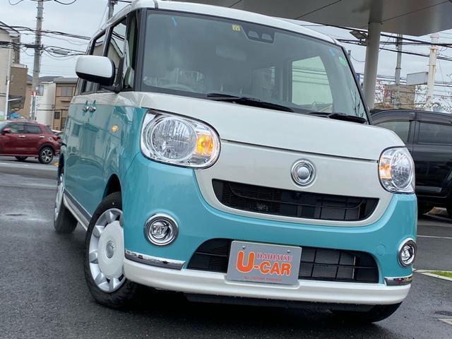 ムーヴキャンバスXメイクアップリミテッド SAIII 全方位カメラ 禁煙車両側パワースライドドア オートハイビーム 禁煙車 2トーン 全方位カメラ(埼玉県)の中古車