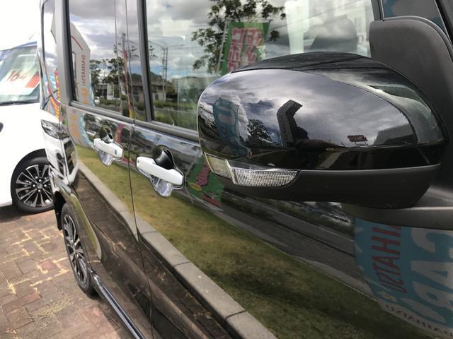 タントカスタムRSアルミホイール フルLEDヘッドランプ オート格納式カラードドアミラー 本革巻ステアリングホイール マルチインフォメーションディスプレイ ファブリック ソフトレザー調シート(静岡県)の中古車