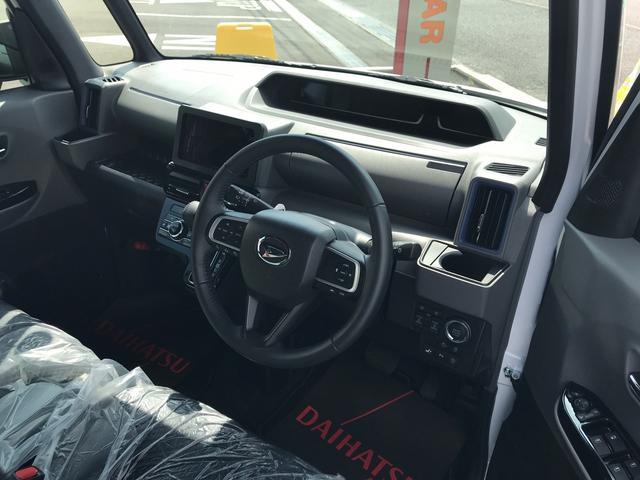 タントカスタムRSフルLEDヘッドランプ オート格納式カラードドアミラー 本革巻ステアリングホイール ドライブアシストイルミネーション マルチインフォメーションディスプレイ(静岡県)の中古車