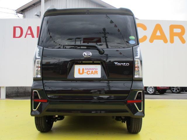 タントカスタムRSスタイルセレクション 両側パワースライドドア衝突回避支援ブレーキ・スマートアシスト クルーズコントロール ビルトインETC 両側パワースライドドア LEDヘッドライト 15インチアルミホイール 届出済未使用車(滋賀県)の中古車
