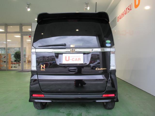 N−BOXカスタムG・Lパッケージナビ ETC ドラレコ 後席モニター オートライト バックカメラ アイドリングストップ機能 ABS エアバック 片側電動スライドドア(奈良県)の中古車