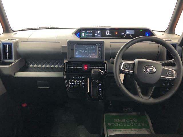 タントカスタムRS両側電動スライドドア・コーナーセンサー・ディスプレイオーディオ・パノラマモニター・プッシュボタンスタート・ETC・オートエアコン・キーフリーシステム・アルミホイール・パワーウィンドウ(佐賀県)の中古車
